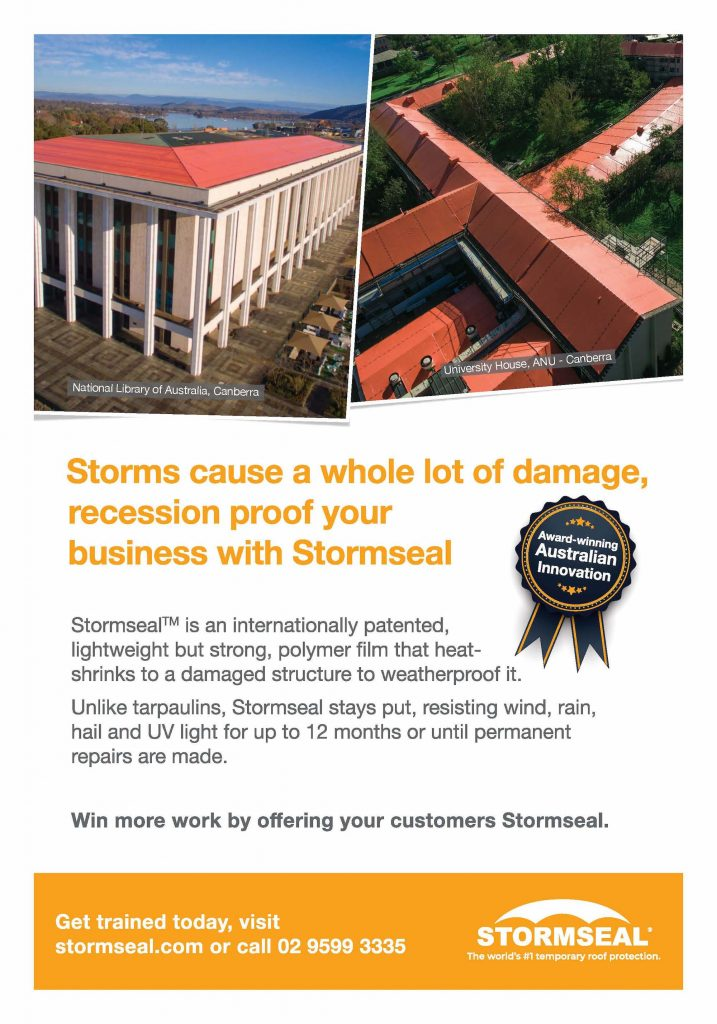 Innovation Prevails; Rain, Hail or Shine | Stormseal | As seen in Canberra Builder