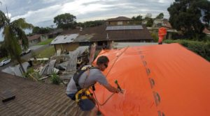 Storm-damaged Properties will get Smarter Protection | Stormseal | Protects damaged roofs