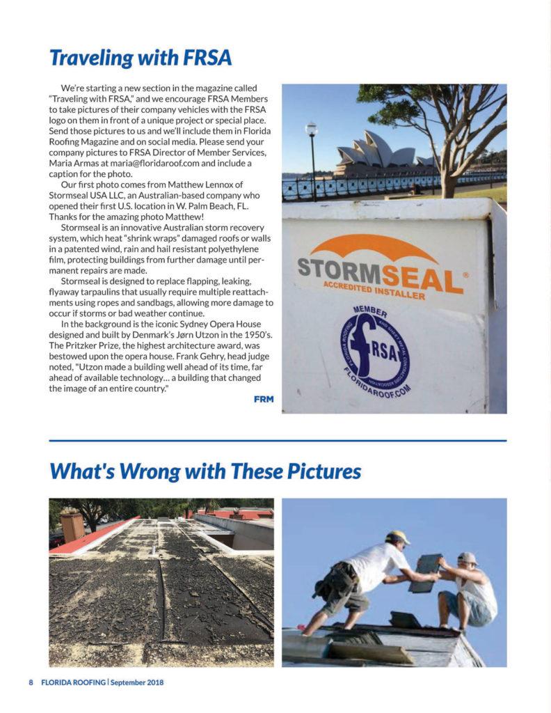 FRSA Florida Roofing Magazine: Traveling with FRSA