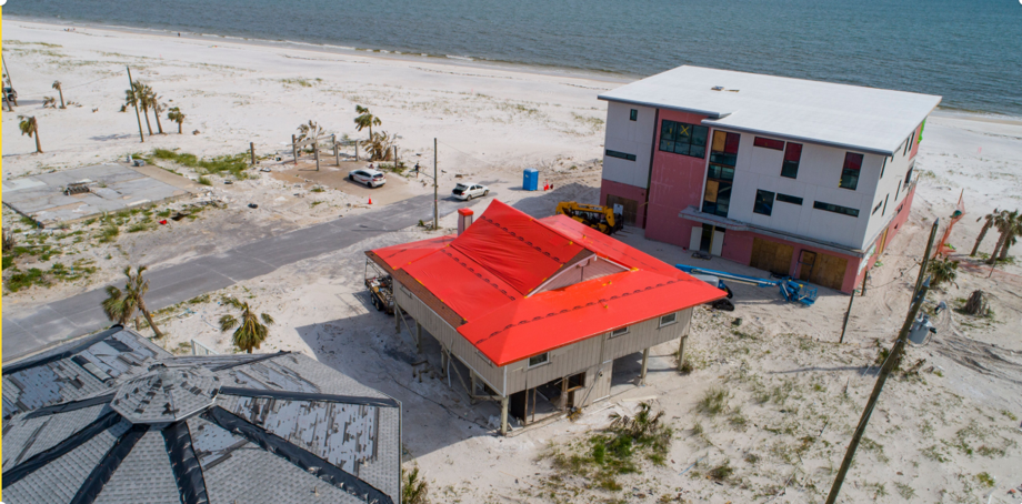 Aftermath of Hurricane Michael, Mexico Beach, Florida | Stormseal Saves Insurers Millions