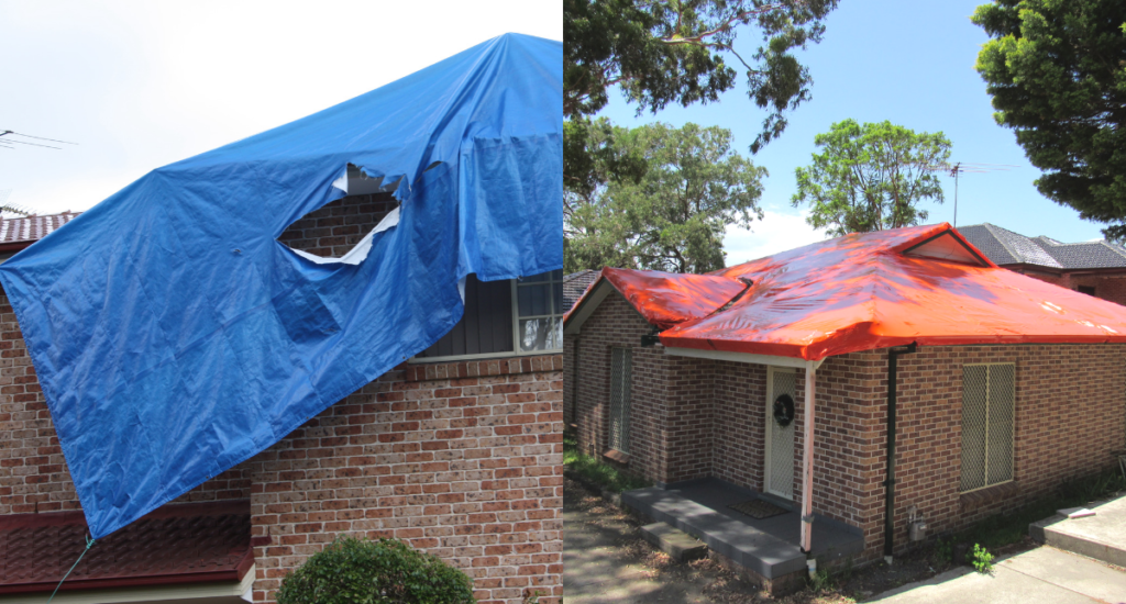 Cheaper than tarpaulins - Stormseal is the solution