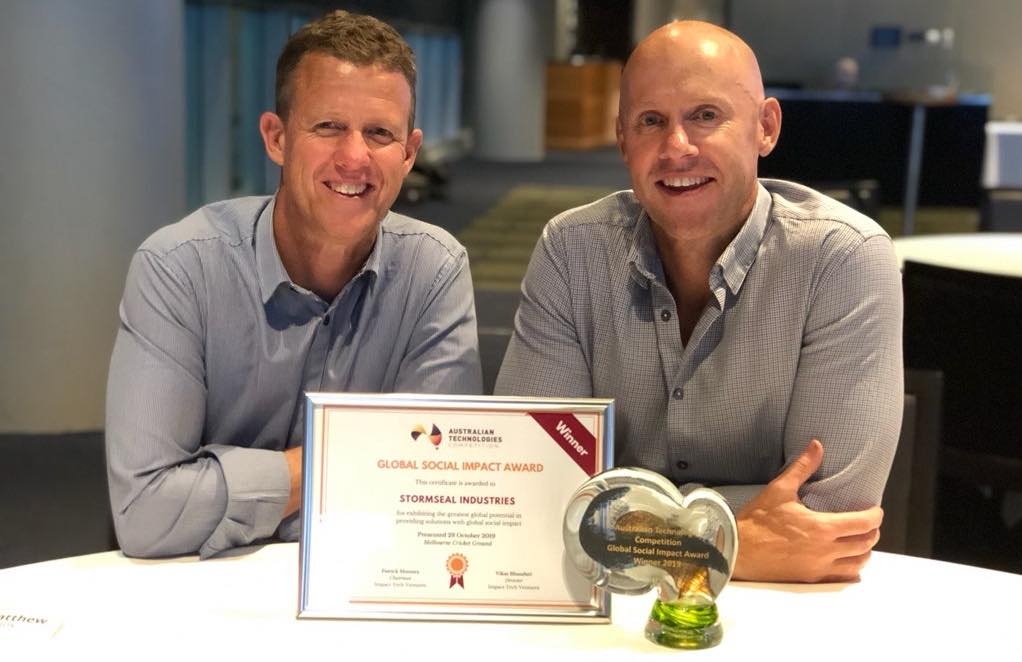 Aussie Stormseal innovation a global social impact winner | award-winning, Australian product